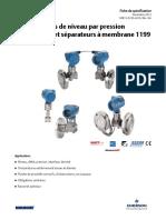 Des Spécifications Rosemount Transmetteurs de Niveau Parpression Différe