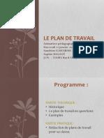 DV AP Le Plan de Travail Janv 2015