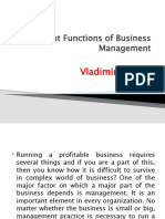 Vladimir Tingue - Important Functions of Business Management