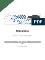 2011 Kyoto 250 Rulebook