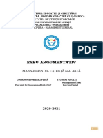 Dane Horciuc, Anul I, IfR, Management General 27.01.2021