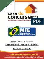 Economia Do Trabalho Parte 1 Prof. César Frade
