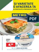 Catalog METRO cu produse alimentare pentru afacerea ta