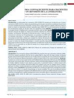 Terapia con plasma convaleciente COVID 19