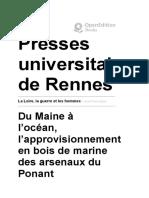 Construction navale et approvionnement en bois - La Loire, la guerre et les hommes - Presses universitaires de Rennes