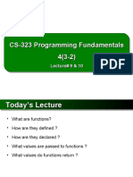 PF-Lecture-09 & 10 Functions