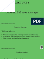 LECTURE 5 good and bad news messages