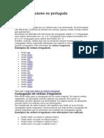 Verbos irregulares no português_COMPLEMENTAR UNIDADE III_MORFOLOGIA