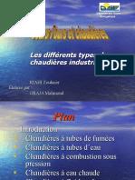 Différents types des chauières industrielles