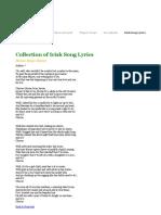 Irish Song Lyrics - Home Boys Home