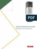 Kodak Prosper S-series - Customer Expectations Documents - EAMER-rev RK