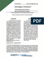 Boaventura (1997), Epistemología Feminismo