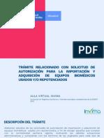 Lectura 3.5 AUTORIZACIONES IMPORTACIÓN DE EB  USADOS Y REPOTENCIADOS -REPUESTO MANTENIMIENTO EB