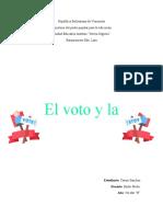 Voto y democracia