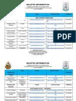 Boletin Informativo Listado de Docentes y Contactos