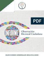 Informe Final de Observación Electoral 2020