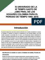 Aplicación del modelo univariado en Colombia