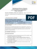 Guía de actividades y rúbrica de evaluación - Unidad 1 - Tarea 2 - Conocer los elementos y características de la arquitectura de Von Neumann y Harvard-1