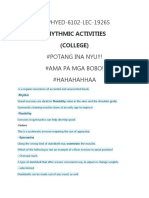Rhythmic Activities Sources