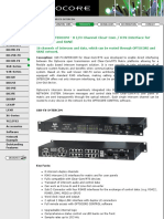Optocore GmbH - Optical Digital Fiber based Network System for Audio and Video - Products - X6R-FX-INTERCOM