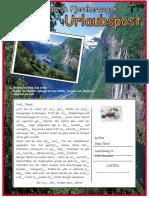 Urlaubspostwanderreise 4 Arbeitsblatter Bildbeschreibungen Leseverstandnis 27997
