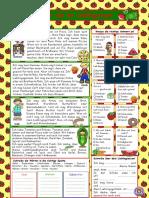 Kinder Und Ihr Lieblingsessen Losung Arbeitsblatter Leseverstandnis 36356