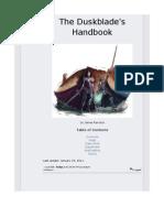 The Duskblade's Handbook