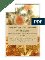 Impressão Botânica Em Papel.