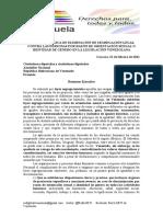 Propuesta legislativa de la Red LGBTI de Venezuela a la Asamblea Nacional para el período 2011-2016