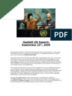 Qaddafi UN Speech