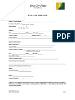 Retail Lease Application