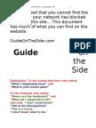 1 GOTS the Website Jan. 2011 a Rough Draft by Steve McCrea   Guide on the Side