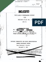 Post Launch Memorandum Report for Mercury-Atlas No. 5 (MA-5)