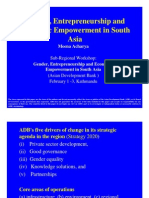 Gender, Entrepreneurship and Economic Empowerment in South Asia