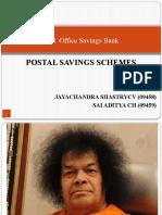 postal savings schemes