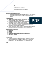 CI 402 Class Simulation MLK Lesson Plan
