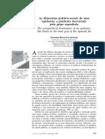 As Dimensões Político-sociais de Uma Epidemia - A Paulicéia Desvairada Pela Gripe Espanhola