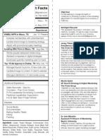 Nutrition Label Resume