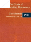 Carl Schmitt - The Crisis of Parliamentary Democracy
