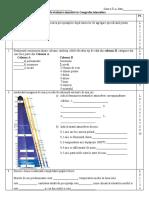 Evaluare sumativă. Atmosfera (V1)