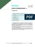 Anhydride phtalique - Procédé « moyenne température » (2)