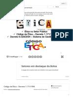 Código de Ética – Decreto 1.171_ ppt carregar