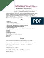 NOM 090 RESIDENCIAS MÉDICAS