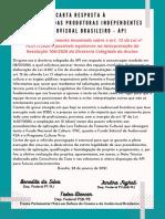 Carta Resposta à API
