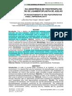 6-HUMANIZAÇÃO DA ASSISTÊNCIA DE FISIOTERAPIA NO PÓS-OPERATÓRIO DE LIGAMENTOPLASTIA DE JOELHO