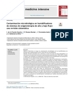 Contaminación microbiológica en humidificadores de sistemas de oxigenoterapia de alto y bajo flujo_ una revisión sistemática