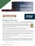 Der Mythos Von Isis Und Osiris _ Das Alte Ägypten