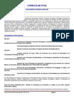 Curriculum Psicóloga Clínica que ha trabajado de Psicóloga Educacional