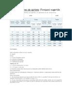 TABLA DE TORQUEO SUMINISTRO TORNILLERIA A-490