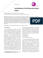 The Process of Immobilization of ZnO Nanorods Surface with Galactose Oxidase